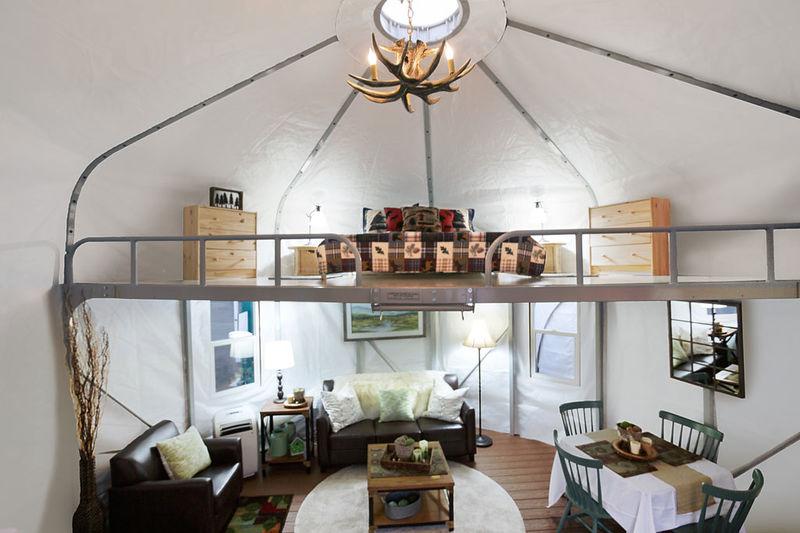 Comfortable Glamping Yurts WeatherPort