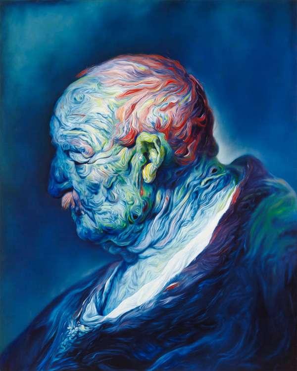 Psychedelic Marbly Portraits Glenn Brown