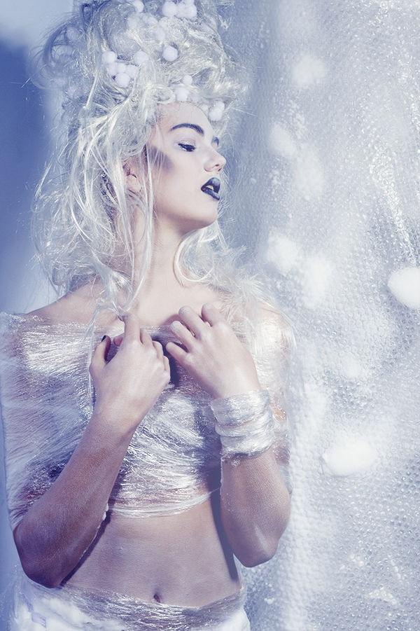 Ethereal Bubble Wrap Editorials Ice Queen By Marlot Haagsma