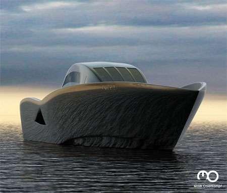 Futuristic Boat Design The Raven Yacht