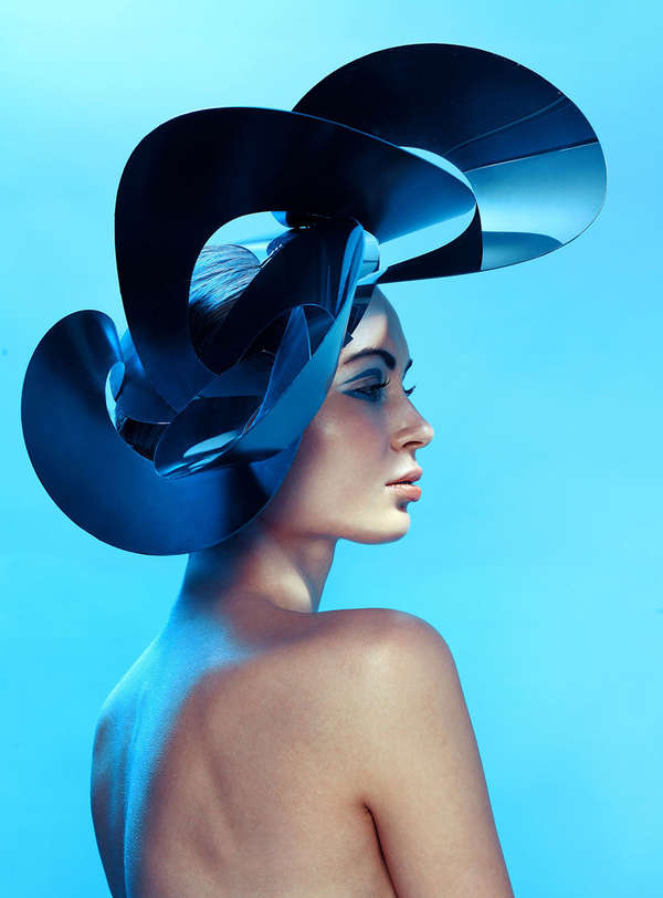 Sculptural Headpiece Editorials Magda Zych