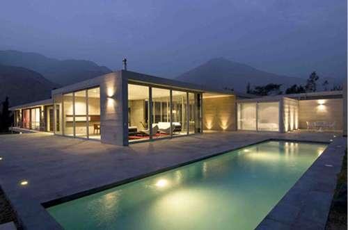 Minimalist Mountain Homes Casa En Los Andes By