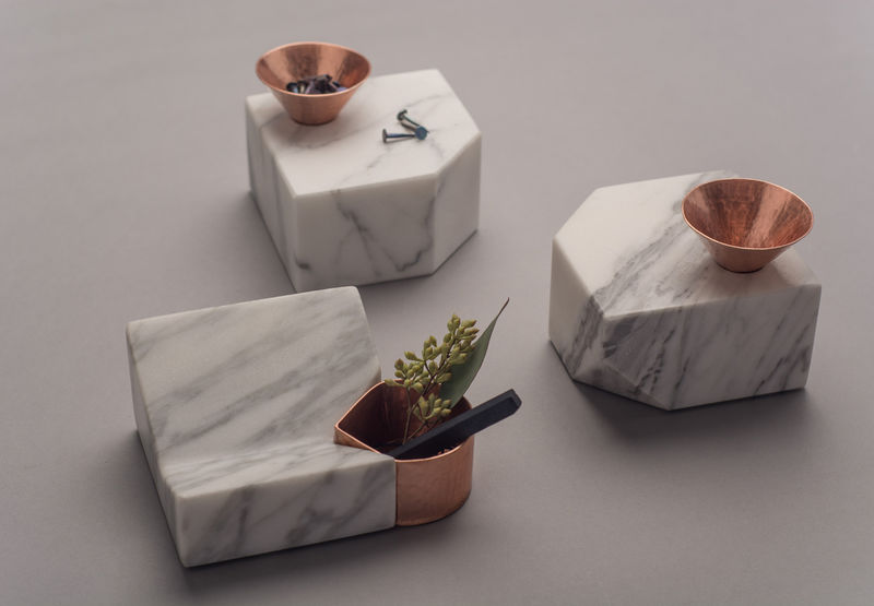 Handcrafted Marble Desk Accessories Peca Santa Clara
