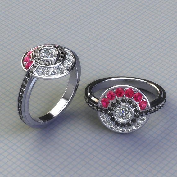 Anime Inspired Engagement Rings Pokemon Engagement Ring
