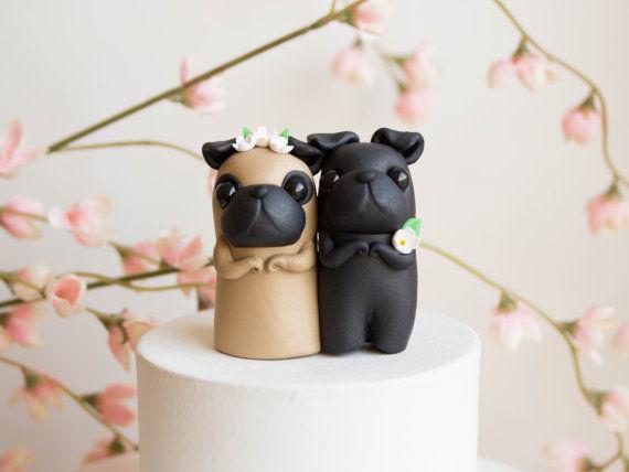 Pug Wedding Cakes Pug Wedding