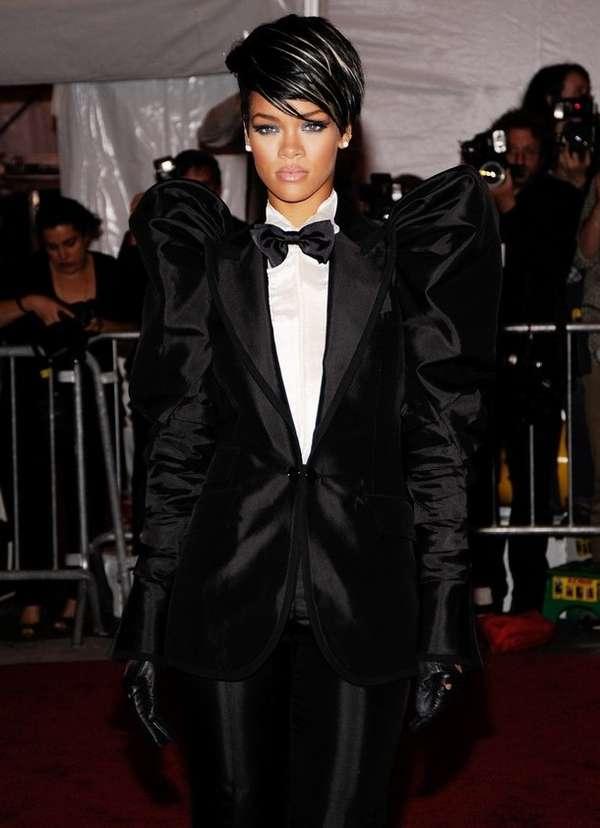 Female Tuxedos Rihanna At 2009 Costume Institute Gala At
