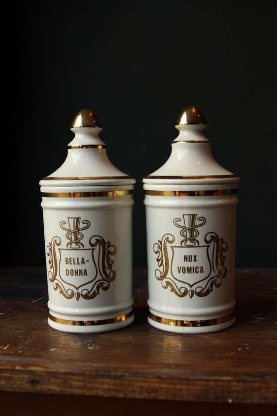 Vintage Vanity Accessories RX Pharmacy Jar