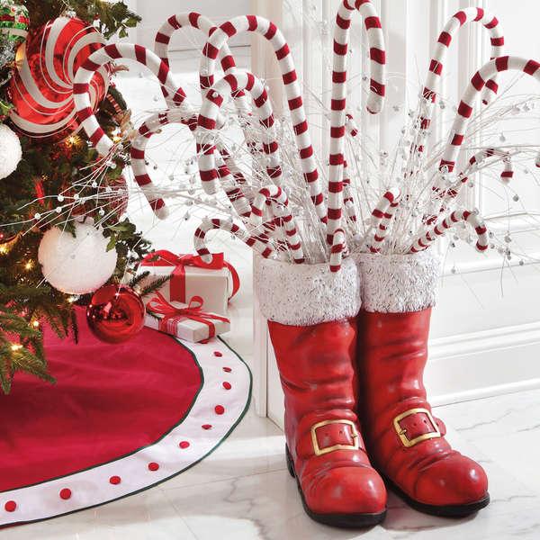 Kris Kringle Footwear Sculptures Santa Boots Christmas Decor