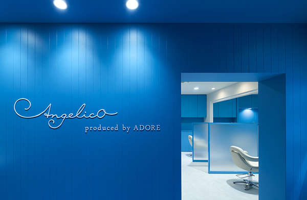 Monochromatic Blue Styled Salons Stylish Hair Salon