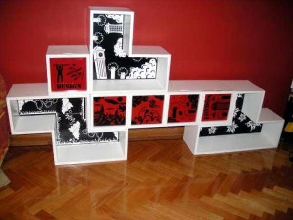 Geeky Gamer Shelves Tetris Shelves