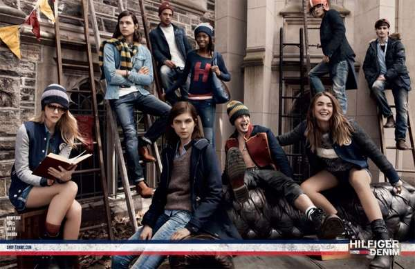 Casual College Fashion Ads   Tommy Hilfiger Denim Fall 2013 Casual College Fashion Ads