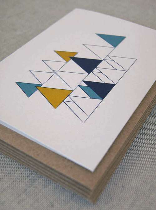Scandinavian Inspired Holiday Cards Wooded Hills