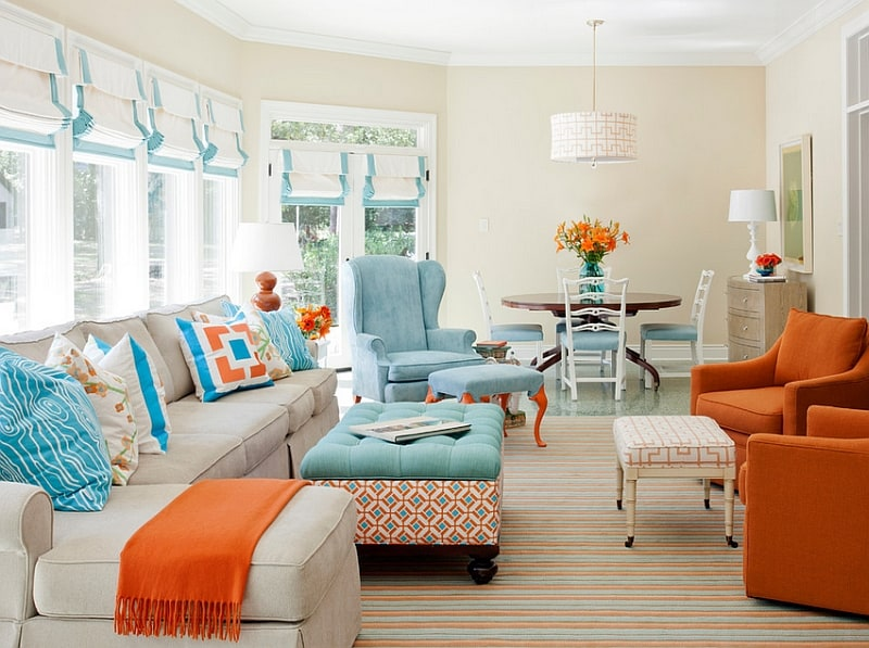 40 Accent Color Combinations To Get Your Home Decor Wheels Turning Part 41