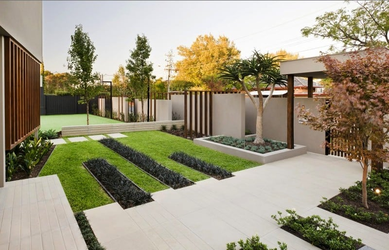 Modern Garden Designs for Great and Small Outdoors on Contemporary Backyard  id=17579