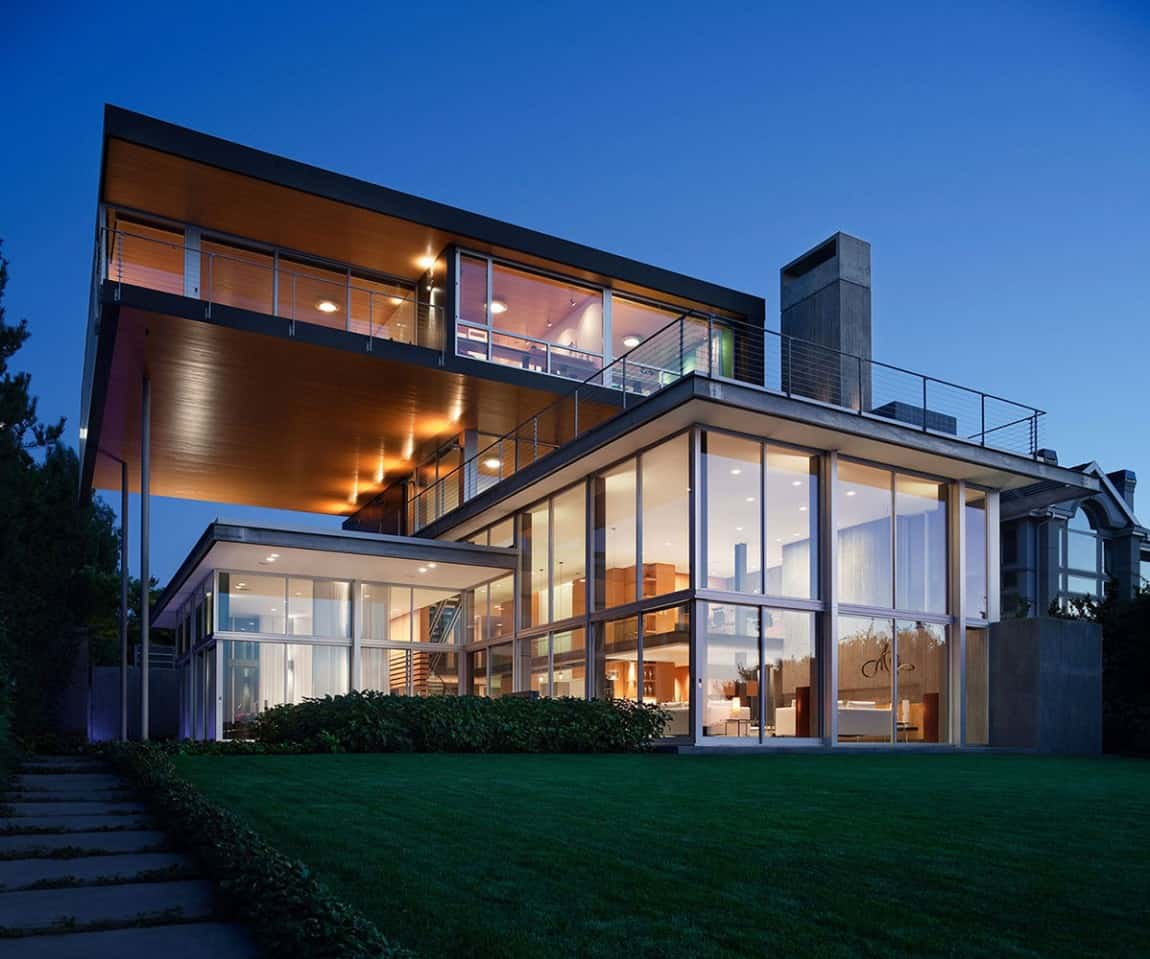 Stunning Modern Glass Houses That Beling in the Storybooks on Modern Glass Houses  id=79621