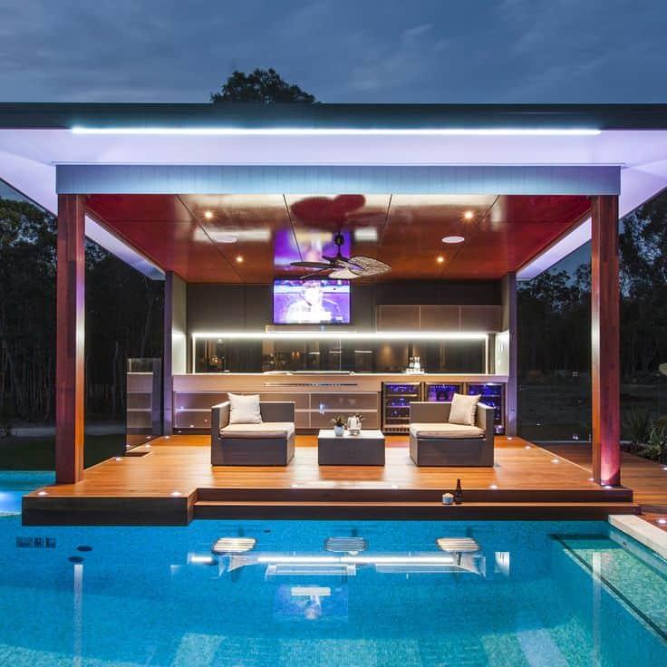 20 Modern Outdoor Bar Ideas To Entertain With! on Garden Entertainment Area Ideas id=13344