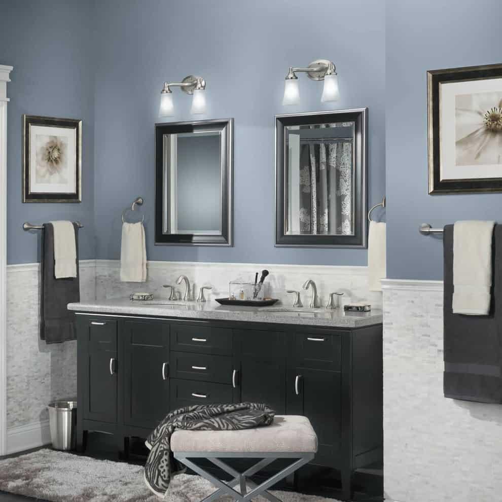 bathroom paint colors that always look
