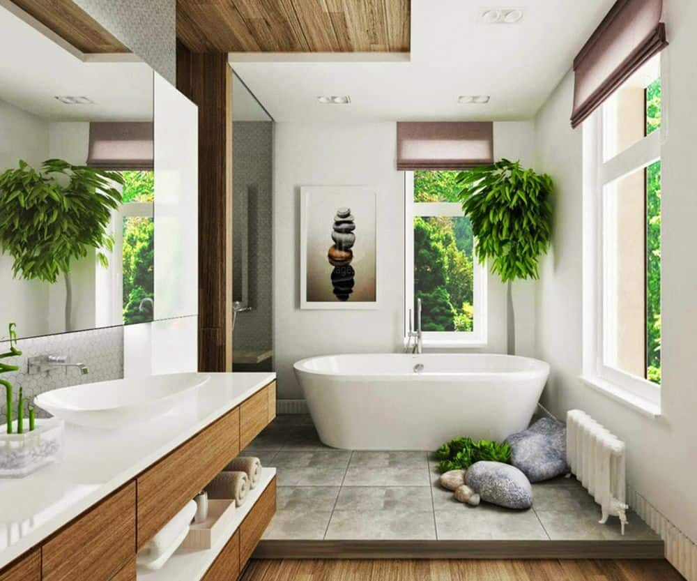 give your bathroom the spa feeling it