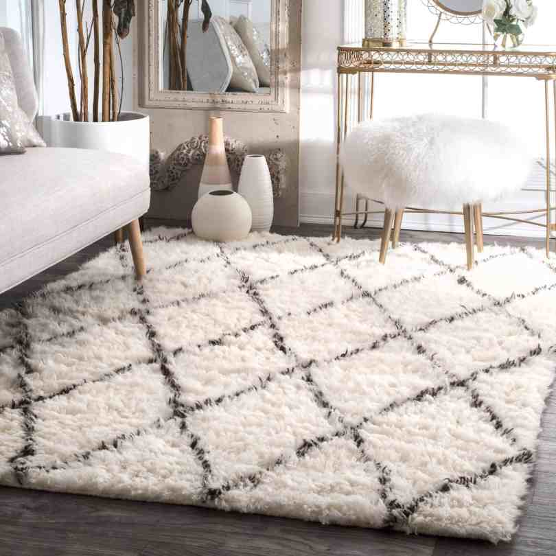 shag rug Living Room Rugs That Chicly Transform Your Space