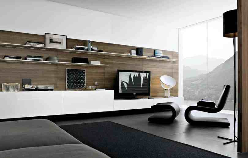entire wall mount Show stopping Modern Wall Units for your Living Room