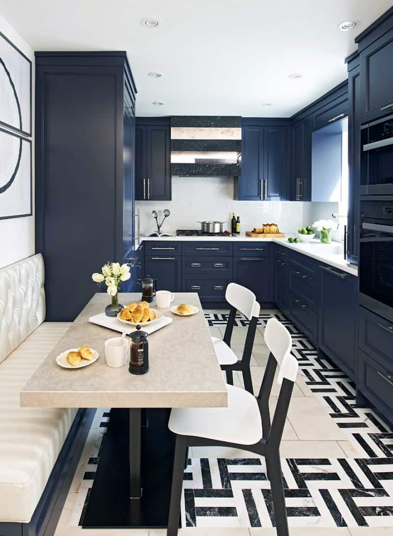 navy kitchen Kitchen trends to embrace the new year