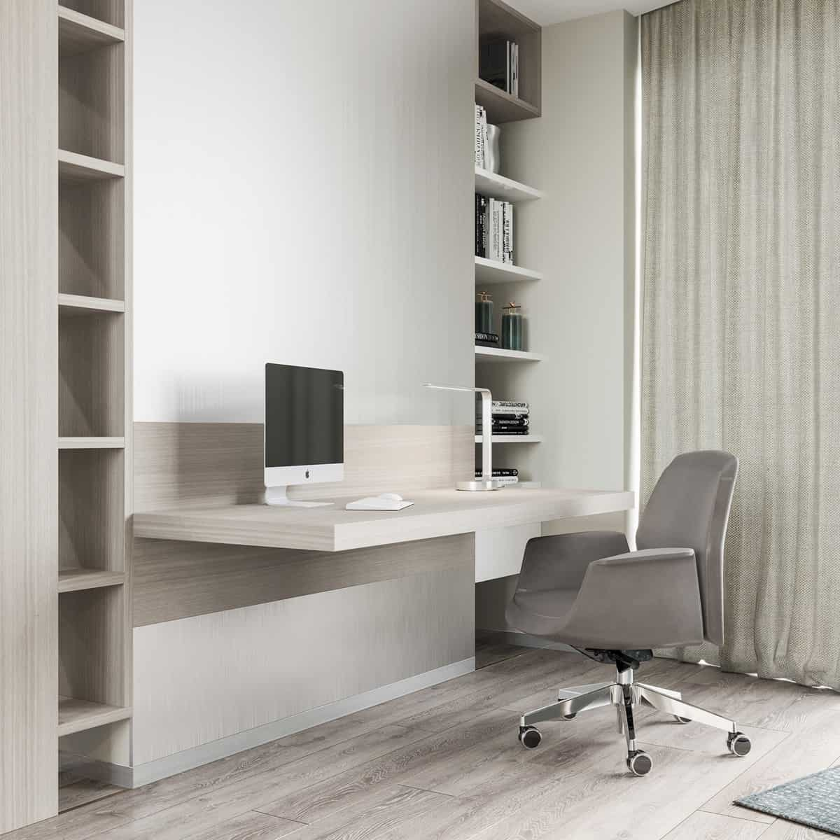 wall mounted office Minimal Office Space Ideas that are stylish & functional