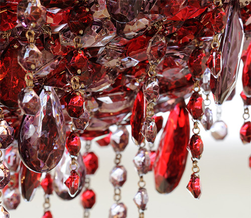 View In Gallery Red Crystal Chandelier Ugolino Lolli Memmoli 2 By