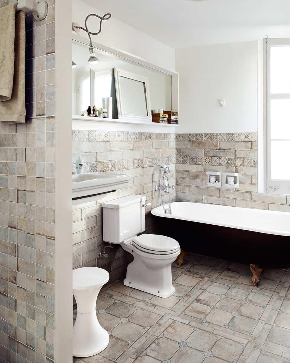 25 Beautiful Tile Flooring Ideas for Living Room, Kitchen ... on Floral Tile Bathroom Ideas  id=58745