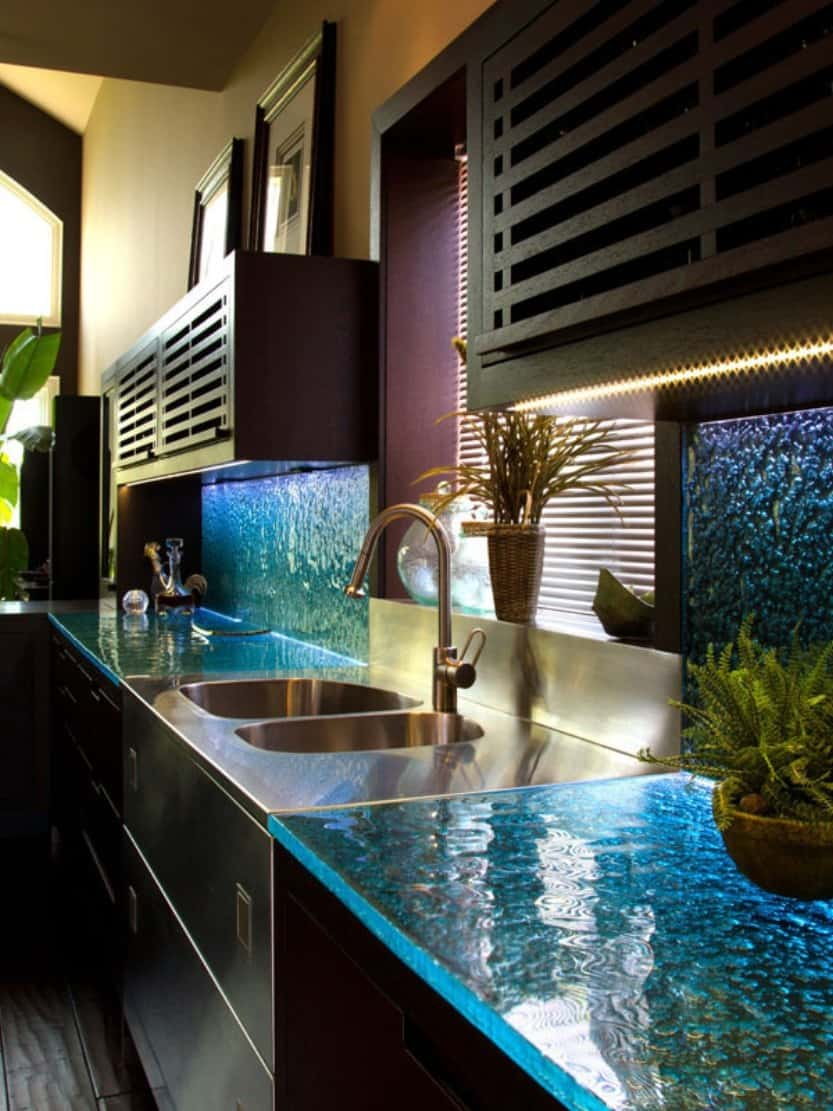 Modern Kitchen Countertops from Unusual Materials: 30 Ideas on Modern Kitchen Countertop Decor  id=38870