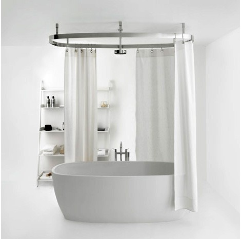 Shower Curtain Rail From Agape Design Cooper Curved
