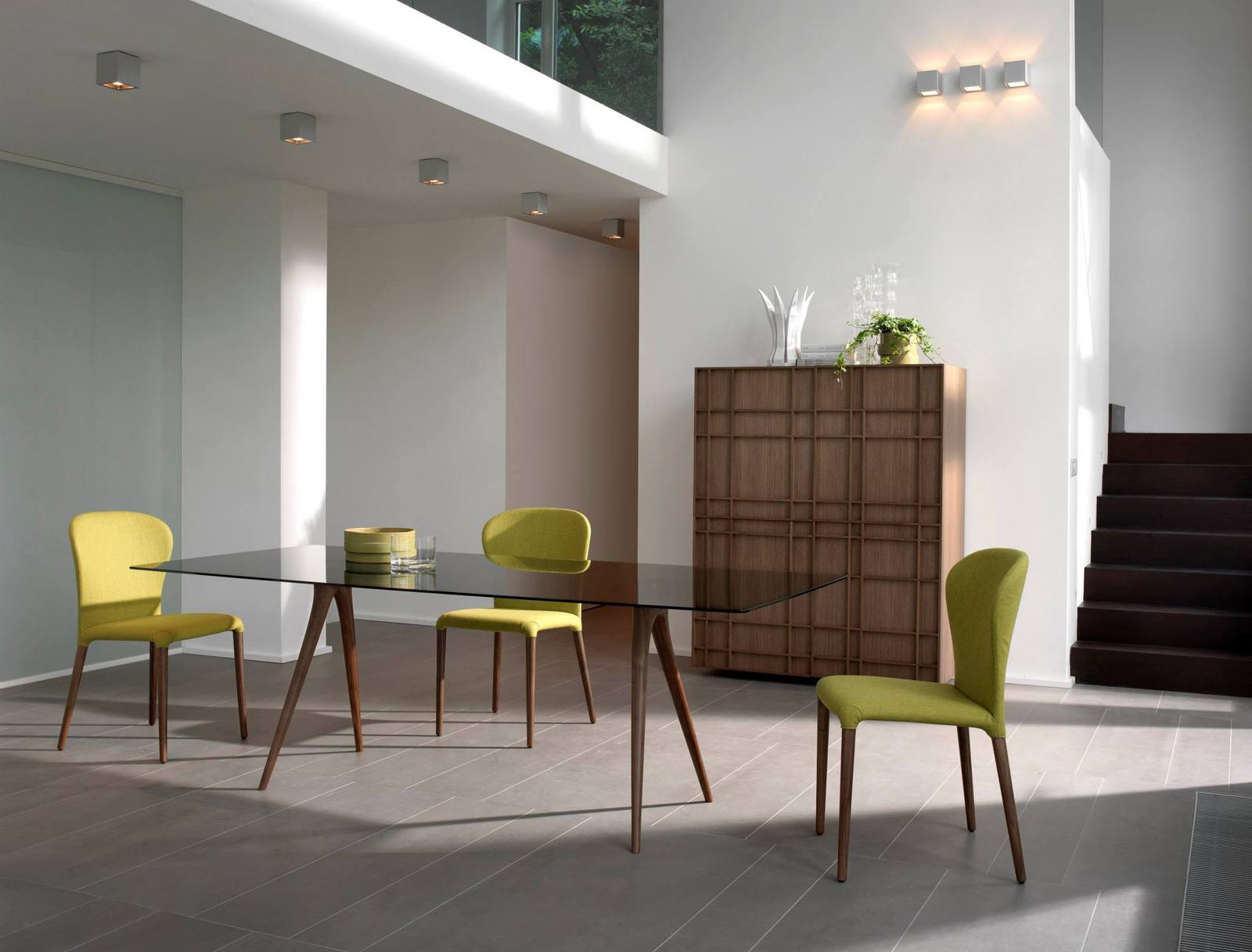 elegant wooden furniture and mirrors