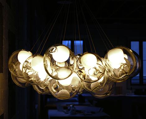 Beautiful Glass Pendant Chandeliers Bocci 1 Pendants By
