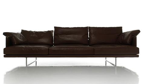 Comfortable Leather Sofa New Versatile Toot By Cassina