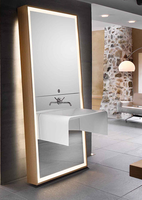 Bathroom Mirror Ideas Sink Mirror Storage Combo By Delpha