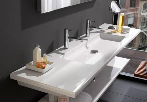 flat bathroom sinks laufen living square