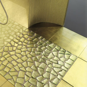 21 Unusual Tile Ideas 6 Glass Tile for Bathrooms Ideas     colored and clear glass tiles by  Vetrocolor