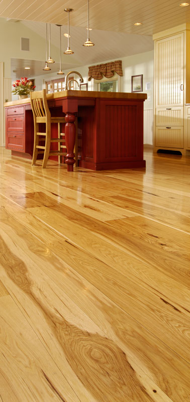 Wide Plank Hickory Flooring Natures Toughest Wood By