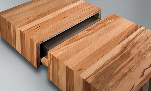 wooden coffee tables with sliding top