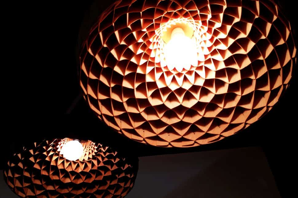 woven bamboo veneer pendant lighting by edward linacre 5