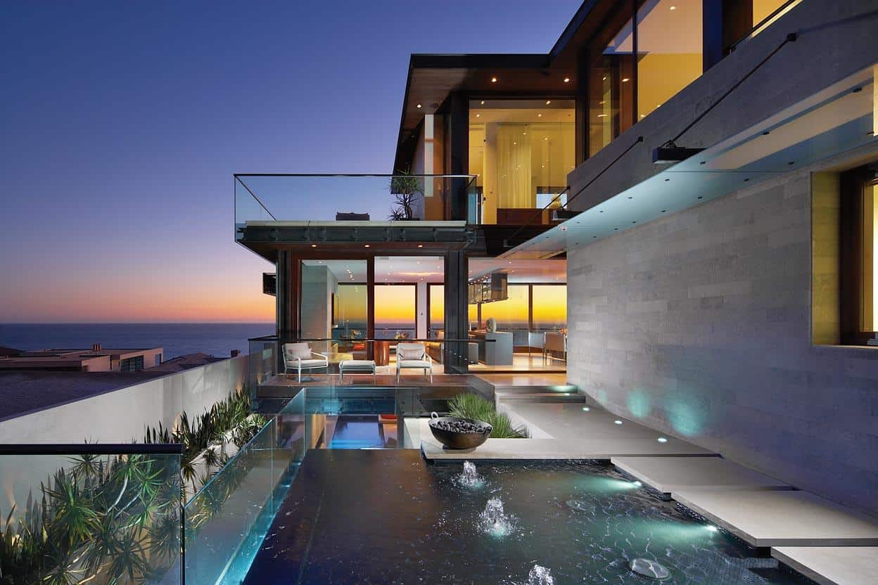Overlapping Pools Amp Ocean View Define Coastal Home