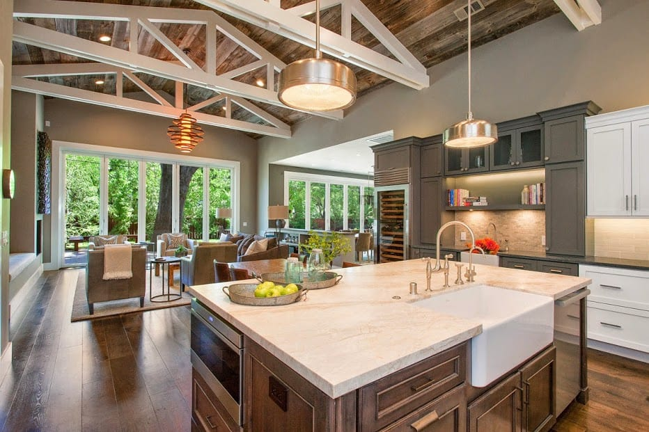 Beautiful Farmhouse Style Ranch Home designed for Outdoor ... on Farmhouse Outdoor Living Space id=50574