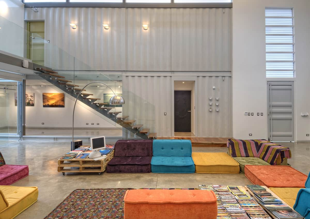 Best Kitchen Gallery: 8 Shipping Containers Make Up A Stunning 2 Story Home of Flooring Shipping Container Homes on rachelxblog.com