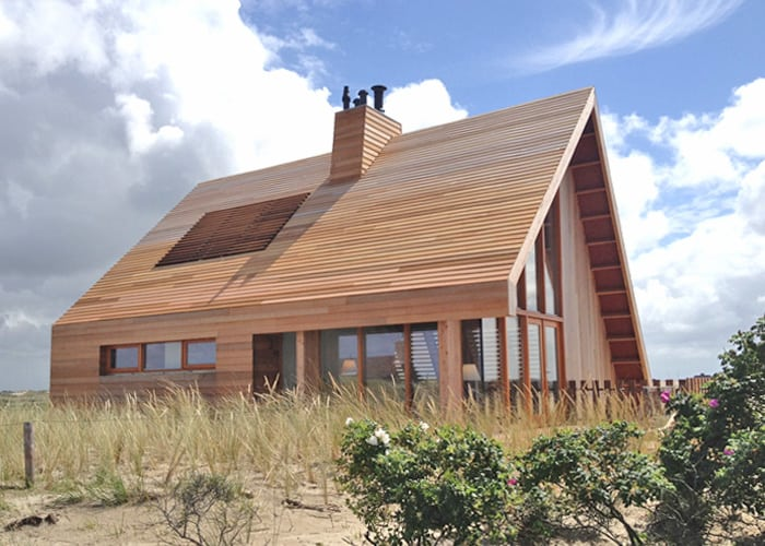 North Sea Wood House Framed In Siberian Larch And Clad In