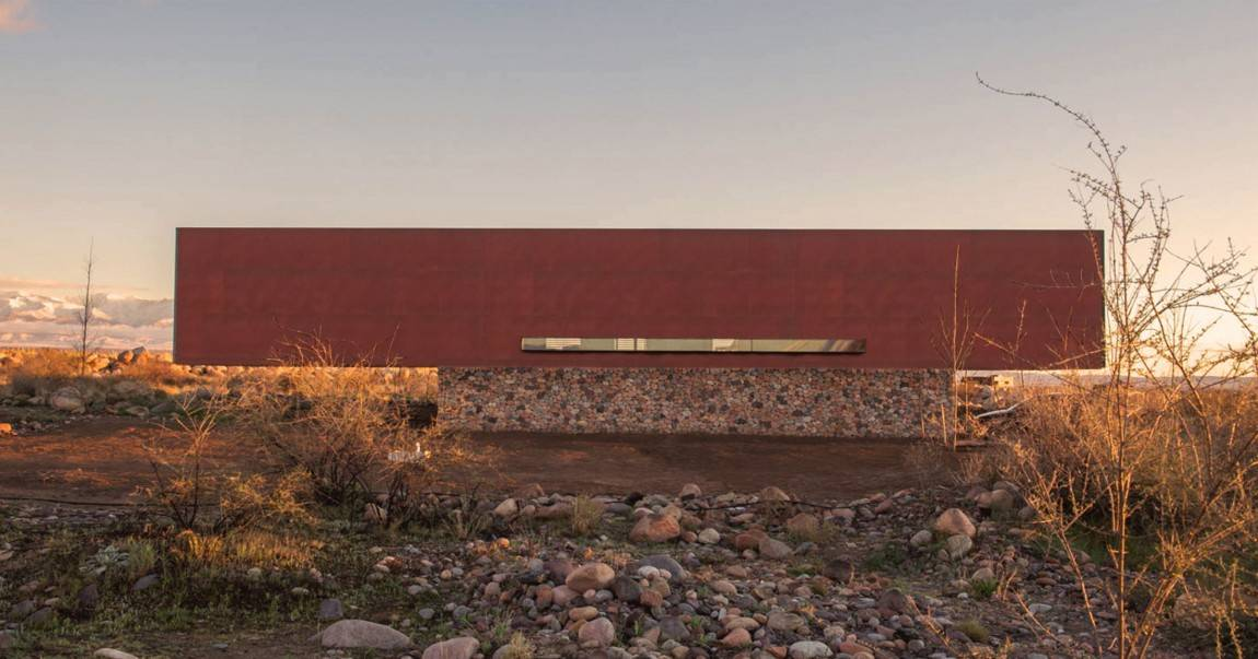 Beautiful Simple Home Uses 5 Building Materials Stone Steel Wood Concrete Glass