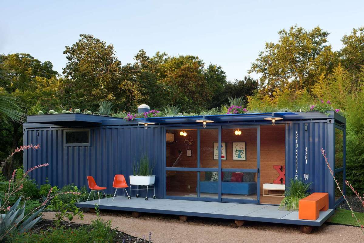 Best Kitchen Gallery: Sustainable Shipping Container House With A Rooftop Garden of Shipping Container House on rachelxblog.com