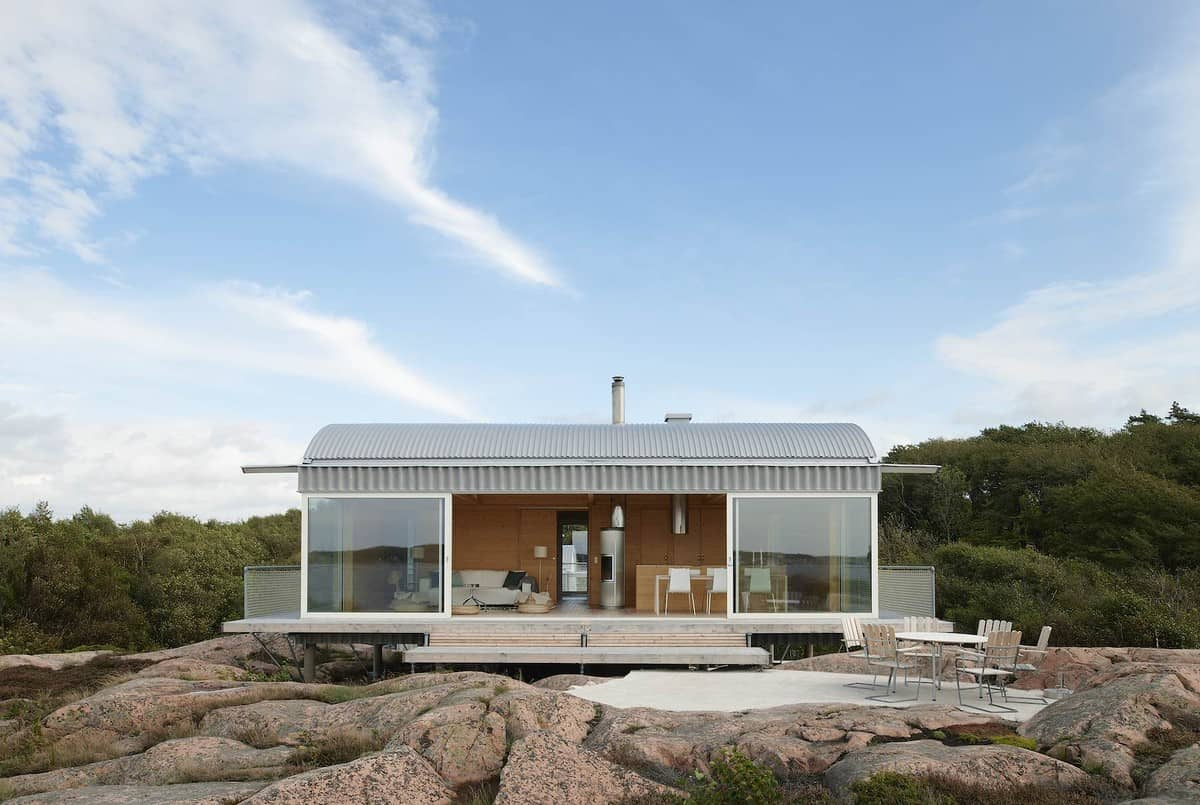 Corrugated Metal Beach Houses With Wood Interiors