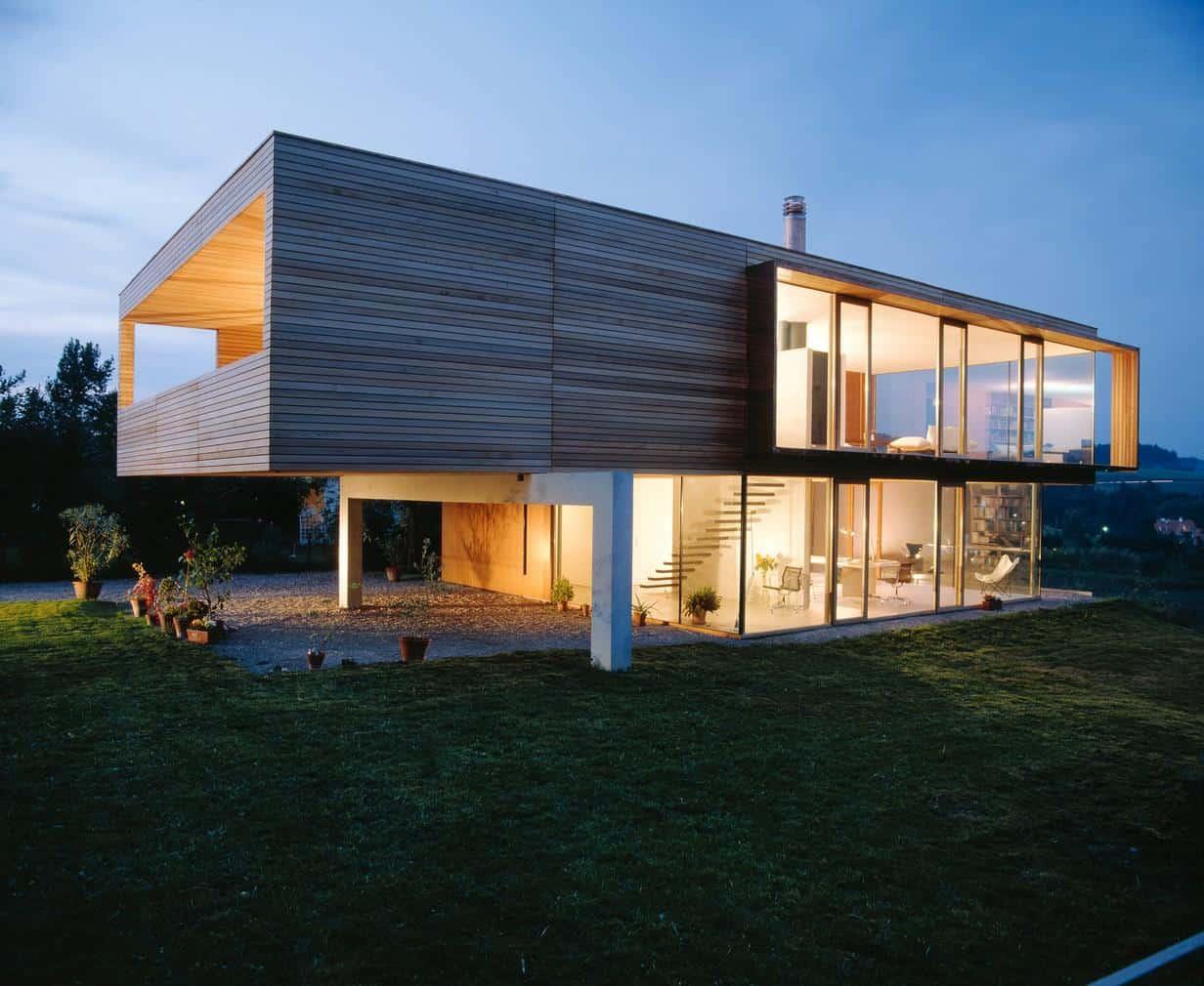 Simple Rectangular House Design on Glass House Design Ideas  id=50054