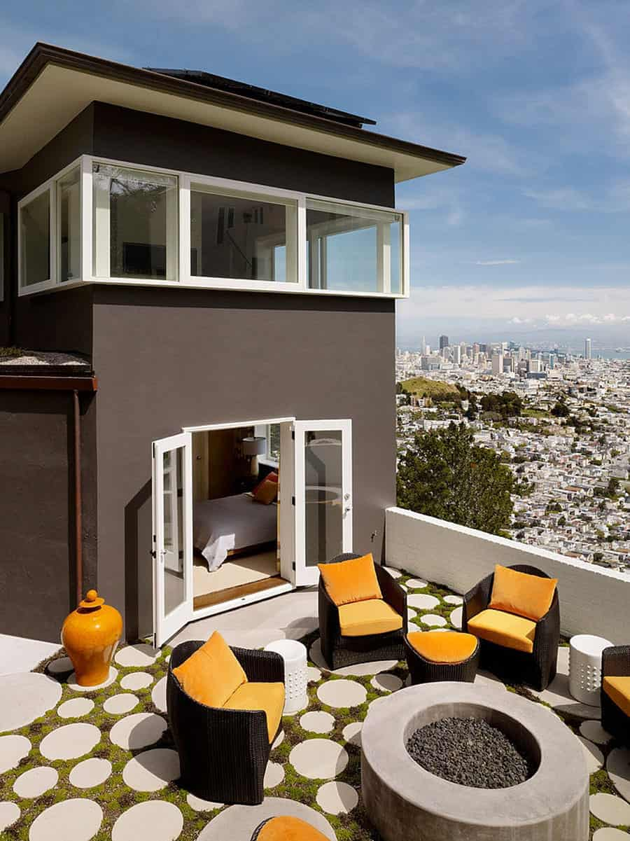 Home Updated With Modern Interiors Rooftop Garden And