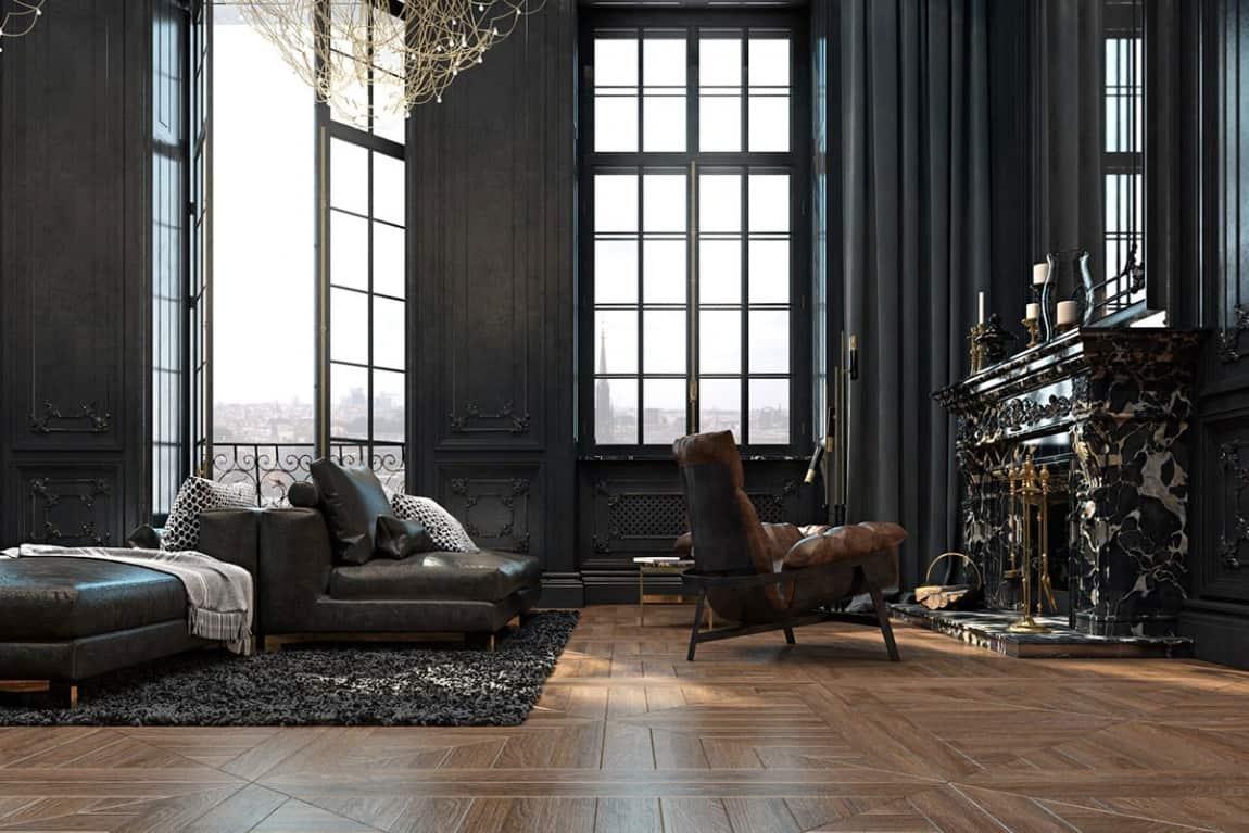 Best Kitchen Gallery: Beautiful Black Interior Showcased In A Historic Paris Apartment of Paris Apartment  on rachelxblog.com
