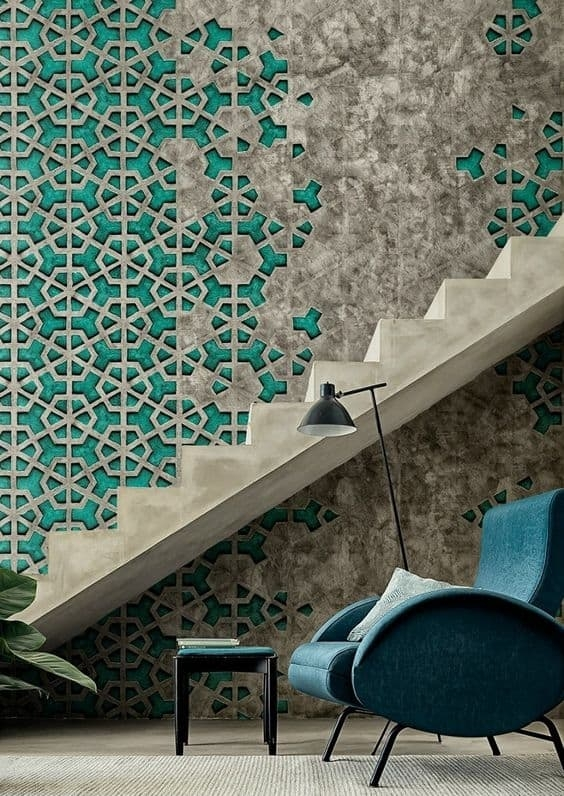 Colorful Staircase Designs 30 Ideas To Consider For A | Tiles Design For Stairs Wall